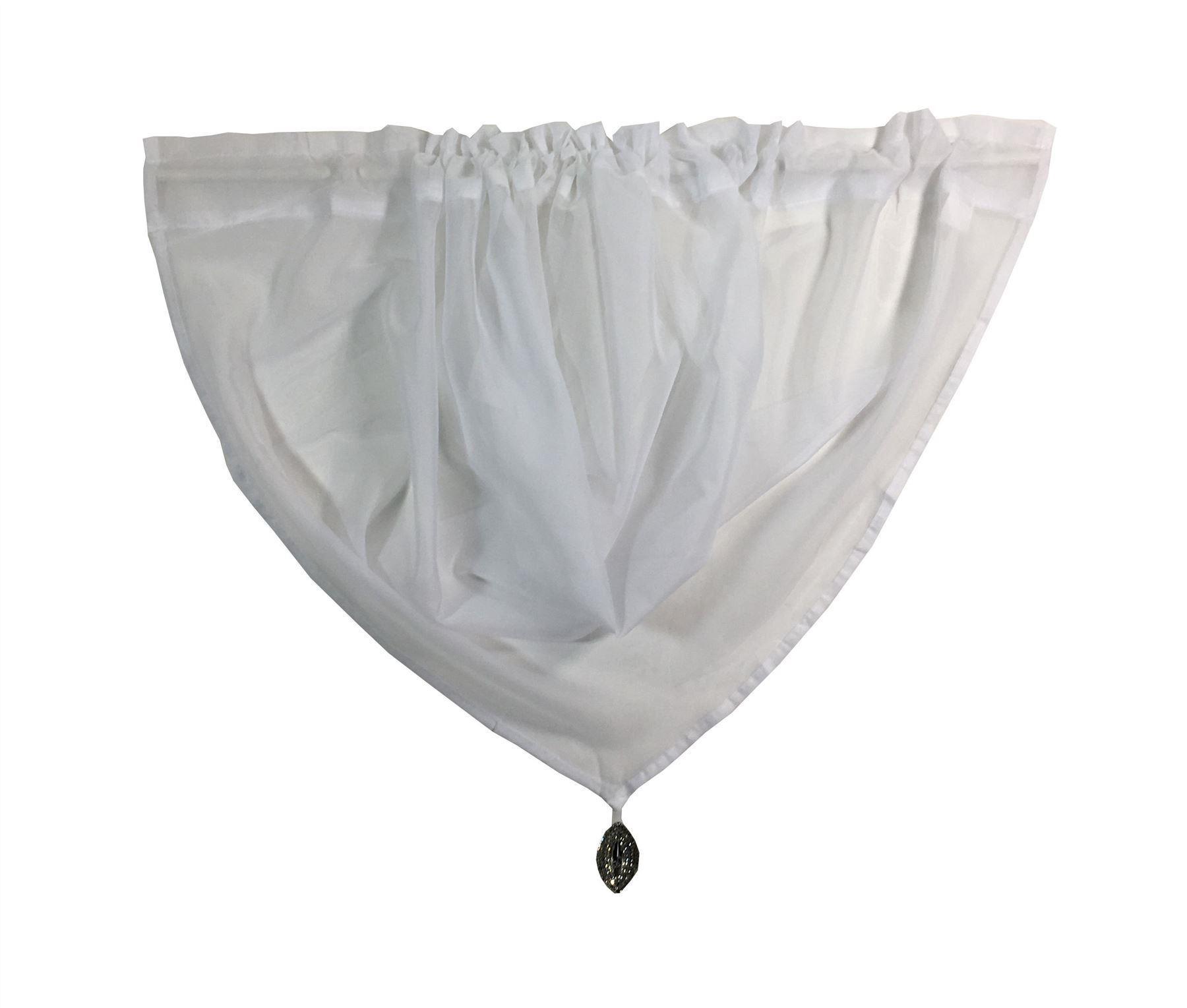 Weiß Strass Kristall Juwelen Perlen Rand Voile Girlande Stab Taschen Vorhang