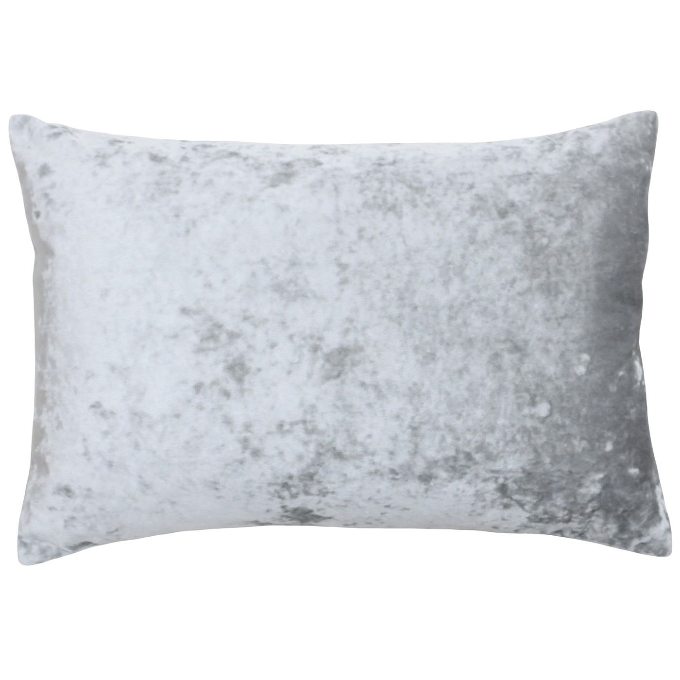 45CM 2 X SOFT CRUSHED VELVET SILVER GREY CUSHION COVERS 18/""