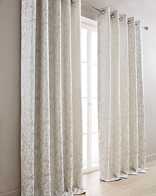 floral silver grey white lined ring top curtains 4 x cushion covers 8 sizes ebay. Black Bedroom Furniture Sets. Home Design Ideas