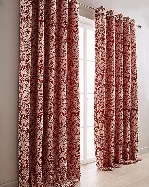 Floral Rouge Beige Doublé Rideaux à anneaux anneaux anneaux & 2 X Filled Coussins  8 Tailles | Outlet Online Shop  aa8dd4