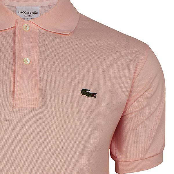 9e91cdde8e Lacoste Polo T-Shirt Hommes Pâle Rose Haut Piqué   eBay