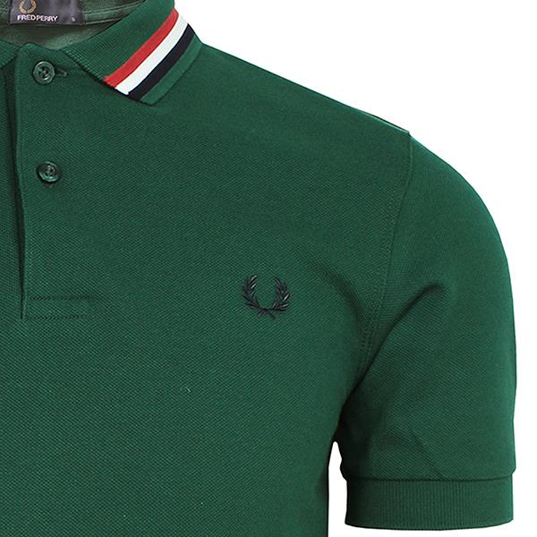 019b6ef6 FRED PERRY MENS IVY BOMBER STRIPE COLLAR POLO SHIRT | eBay