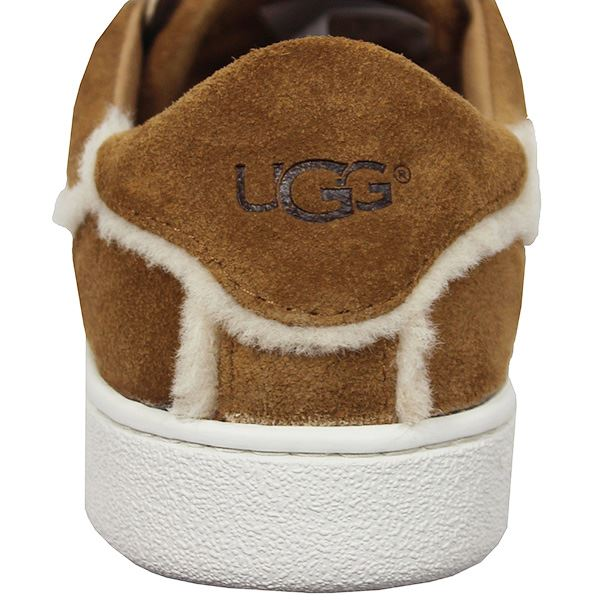 22b770e7deb Details about UGG MILO SPILL WOMENS CHESTNUT SUEDE TRAINERS