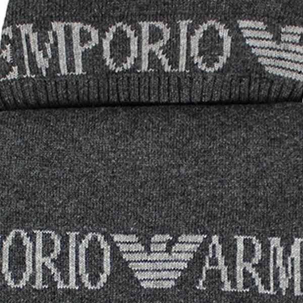 Emporio Armani Gris Foncé Écharpe et Bonnet Vêtements en Tricot ... 13dad956021