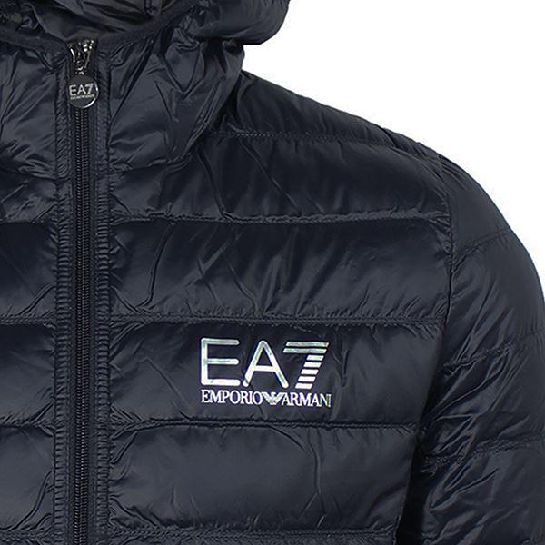 EA7 COAT EMPORIO ARMANI MENS NAVY LIGHTWEIGHT DUCK DOWN PADDED JACKET 8ba7691d45a