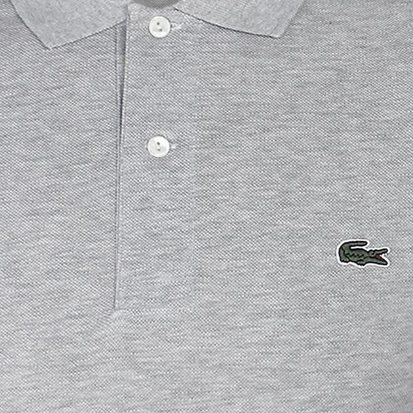 258ff2e0b9 Dettagli su Lacoste T-Shirt Polo Uomini Chiaro Grigio Melange Maglia Pique