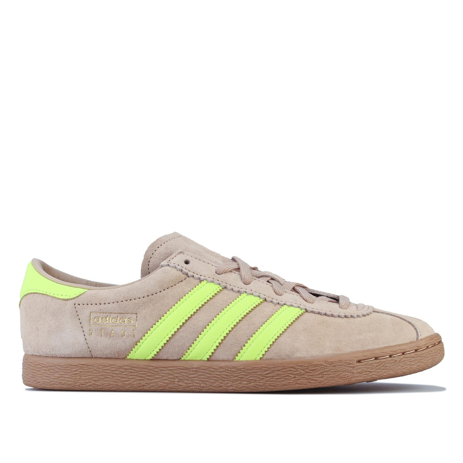disfraz Degenerar semiconductor  Mens adidas Originals Stadt Regular Fit Casual Trainers in Nude, and Lilac  | eBay