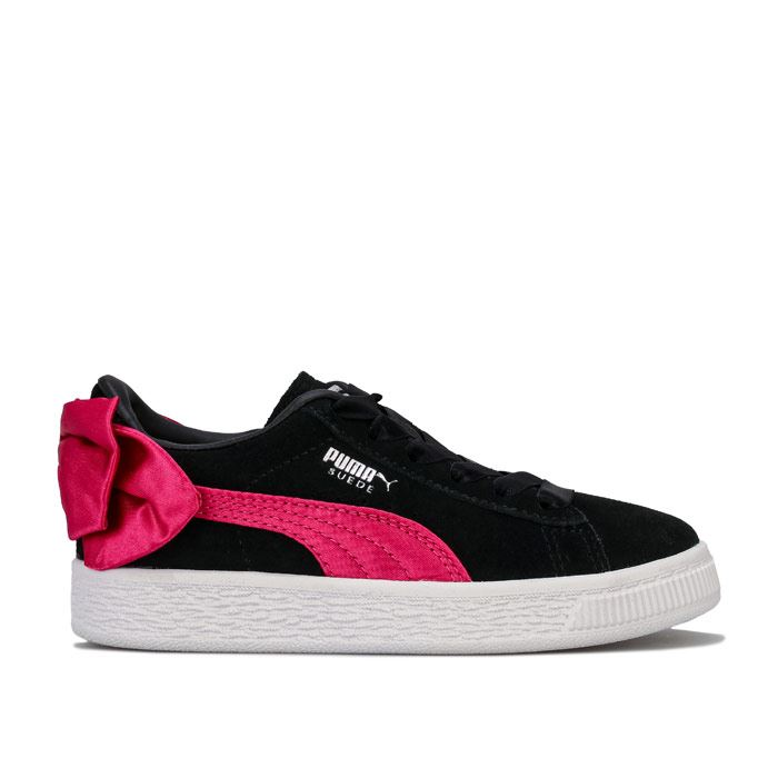 Girl's Puma Children Suede Bow Trainers