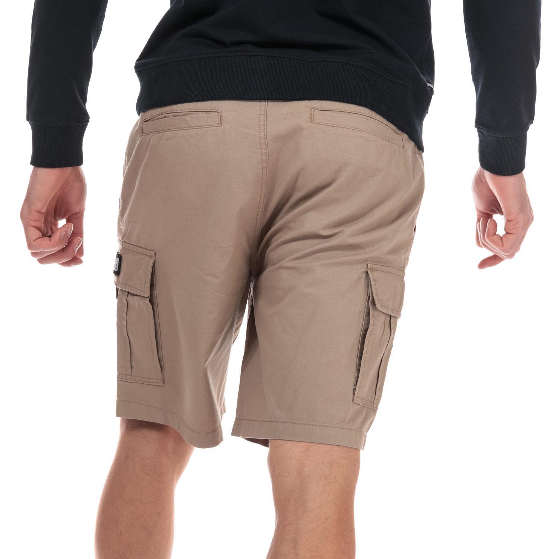 Homme-Weekend-Offender-High-Desert-Coton-Shorts-en-pierre-et-bleu-marine miniature 9