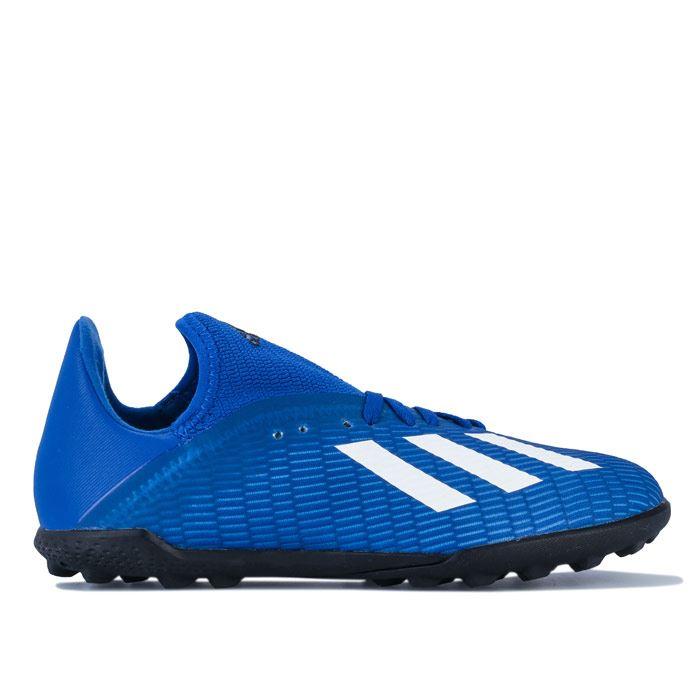adidas astro turf trainers boys blue
