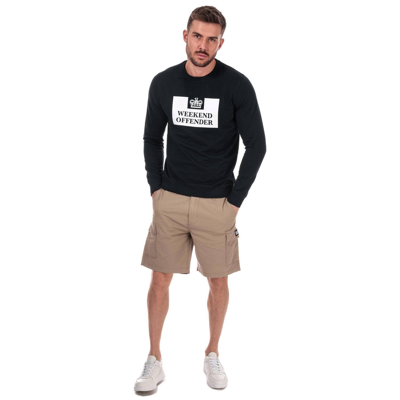 Homme-Weekend-Offender-High-Desert-Coton-Shorts-en-pierre-et-bleu-marine miniature 10