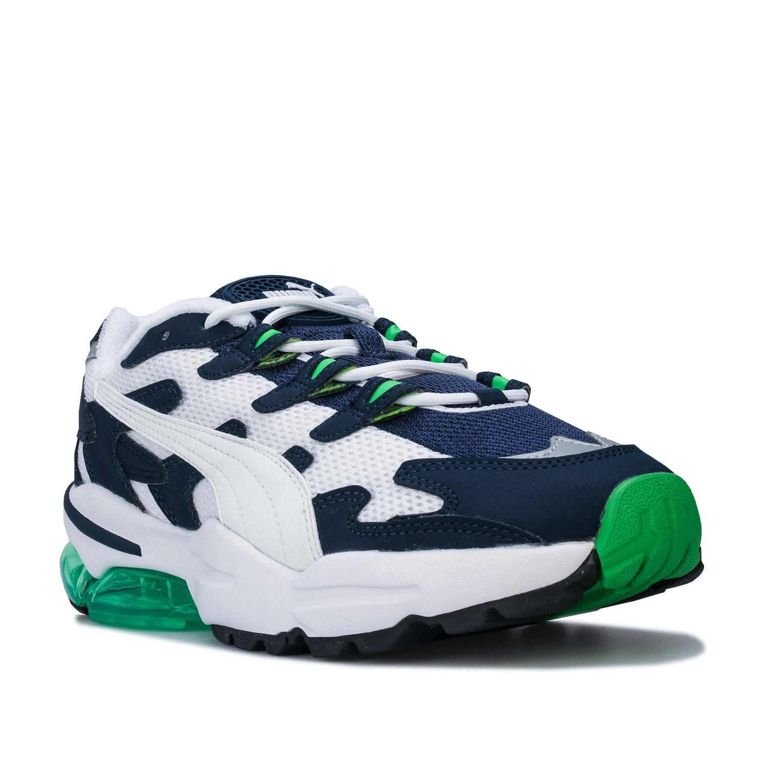 Mens-Puma-Cell-Alien-OG-Trainers-in-Blue-Green-Black-Red-Blue-and-Yellow thumbnail 15