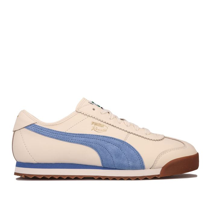 Details about Men's Puma Roma 68 OG Lace up Cushioned Trainers in White
