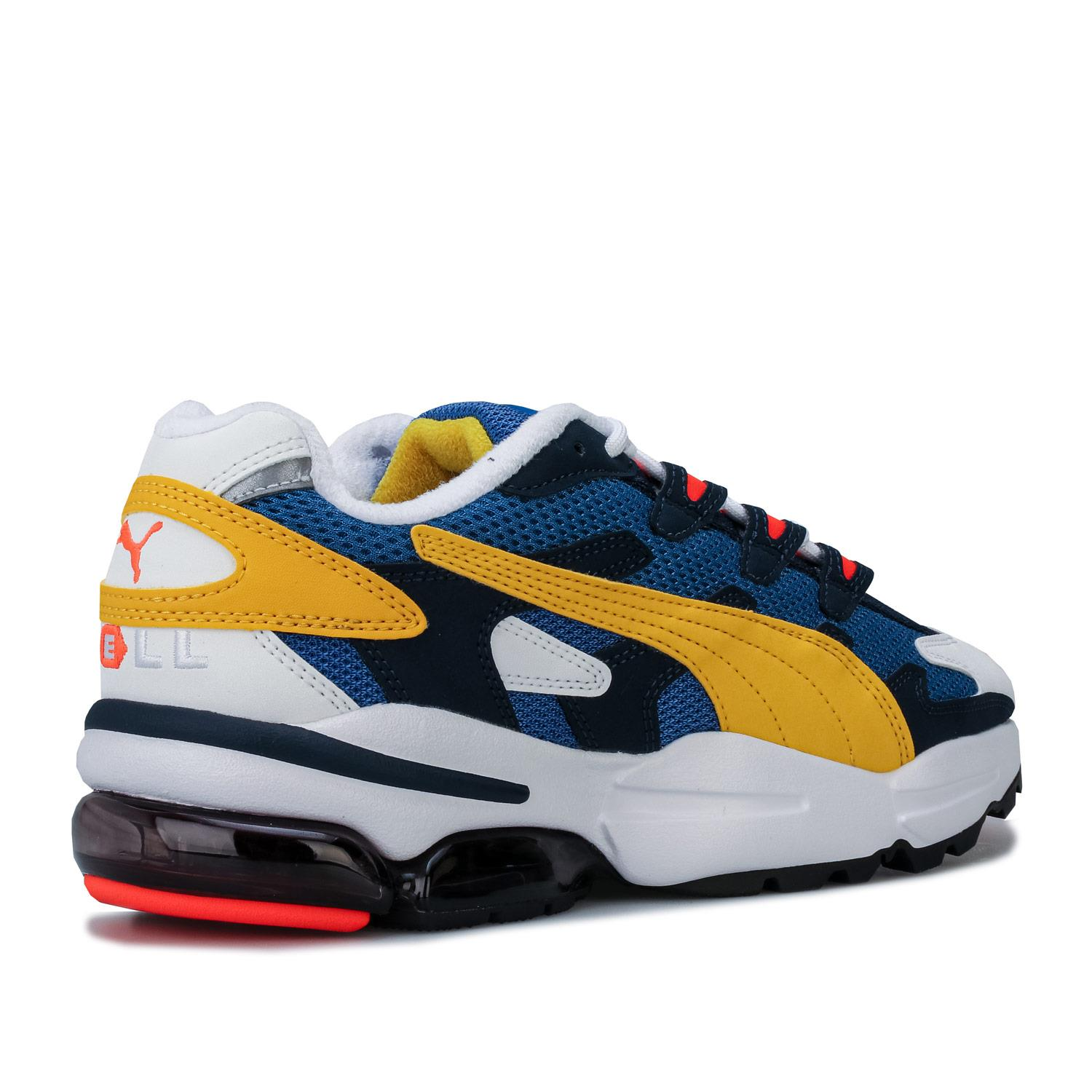 Mens-Puma-Cell-Alien-OG-Trainers-in-Blue-Green-Black-Red-Blue-and-Yellow thumbnail 10