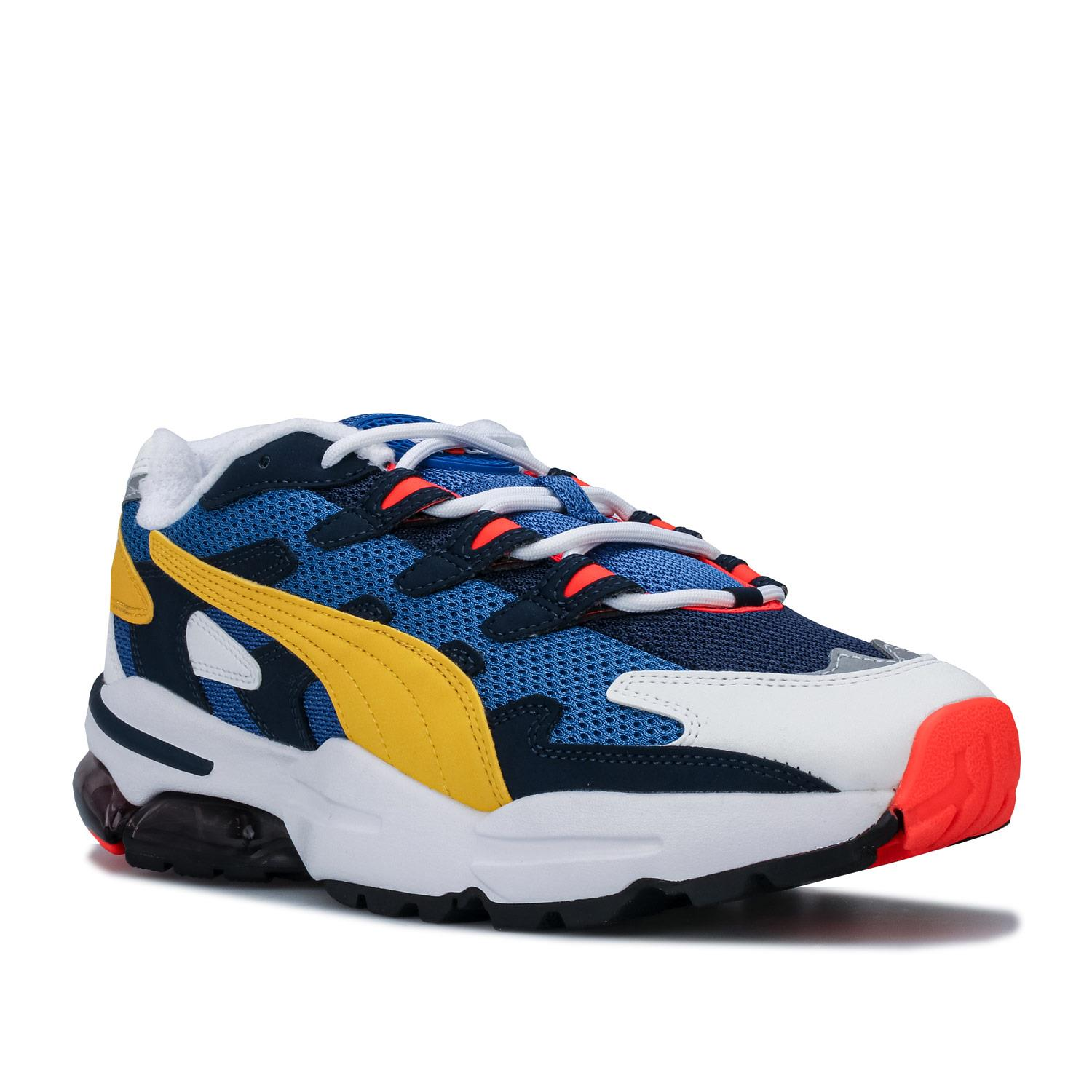 Mens-Puma-Cell-Alien-OG-Trainers-in-Blue-Green-Black-Red-Blue-and-Yellow thumbnail 9