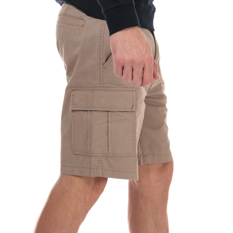 Homme-Weekend-Offender-High-Desert-Coton-Shorts-en-pierre-et-bleu-marine miniature 11