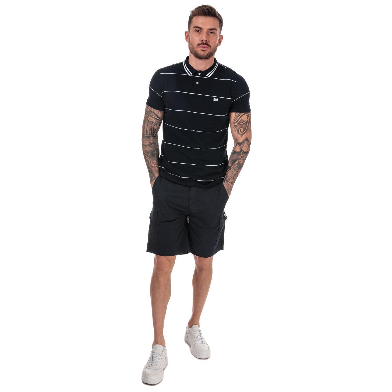 Homme-Weekend-Offender-High-Desert-Coton-Shorts-en-pierre-et-bleu-marine miniature 4