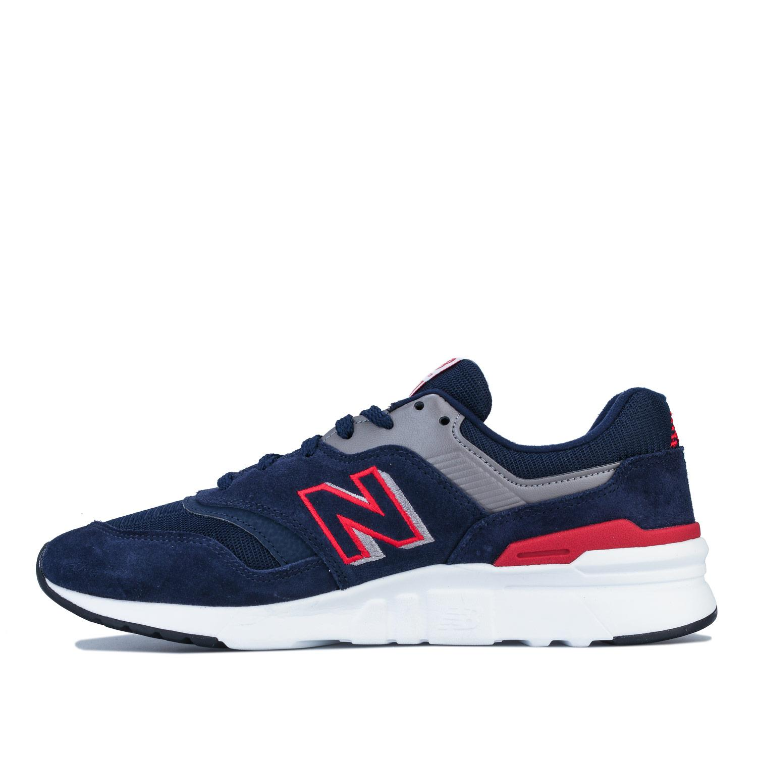 Mens-New-Balance-997H-Lace-up-Cushioned-Trainers-in-Navy-Blue-and-Black thumbnail 7
