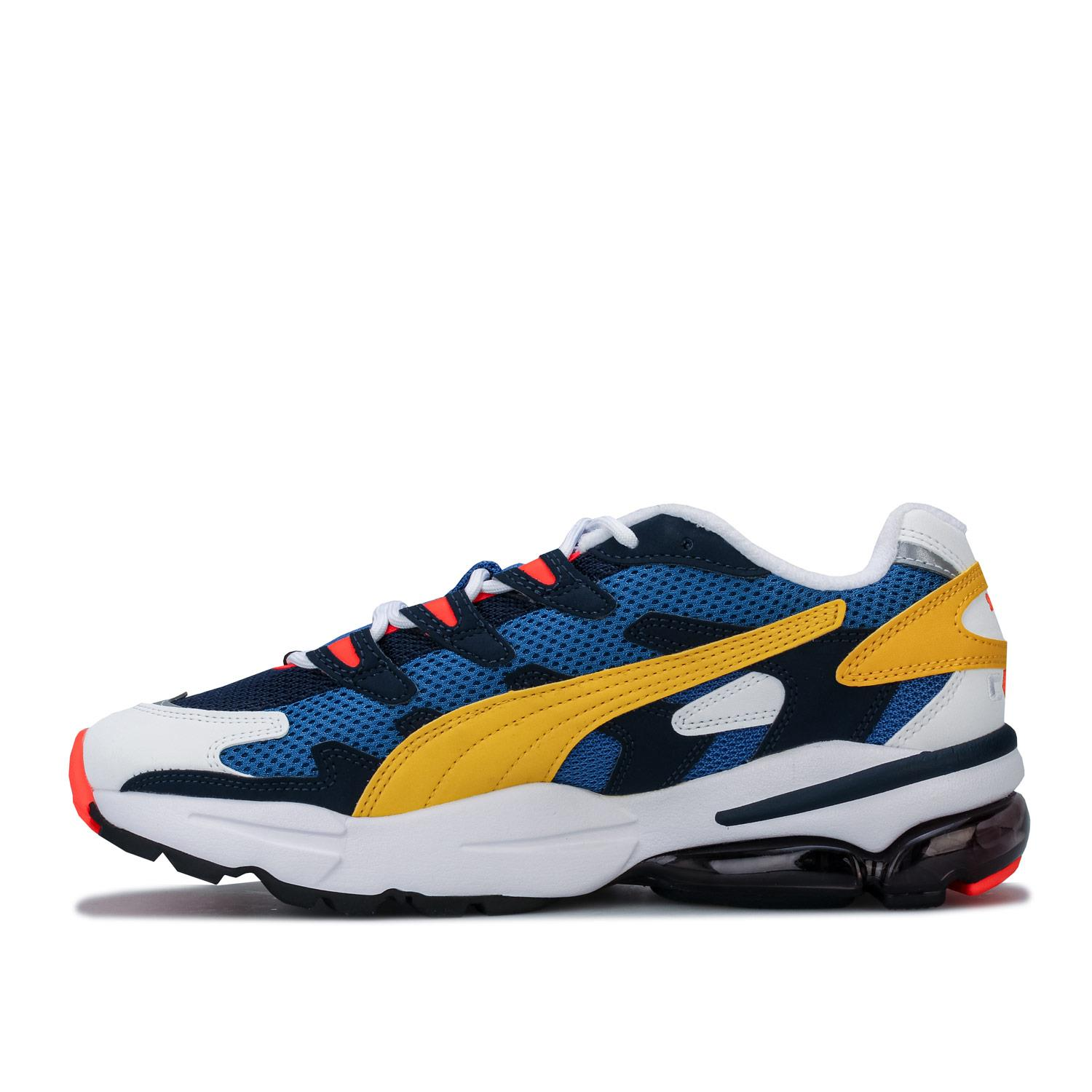Mens-Puma-Cell-Alien-OG-Trainers-in-Blue-Green-Black-Red-Blue-and-Yellow thumbnail 13