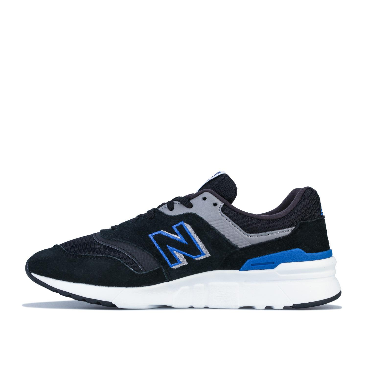 Mens-New-Balance-997H-Lace-up-Cushioned-Trainers-in-Navy-Blue-and-Black thumbnail 4