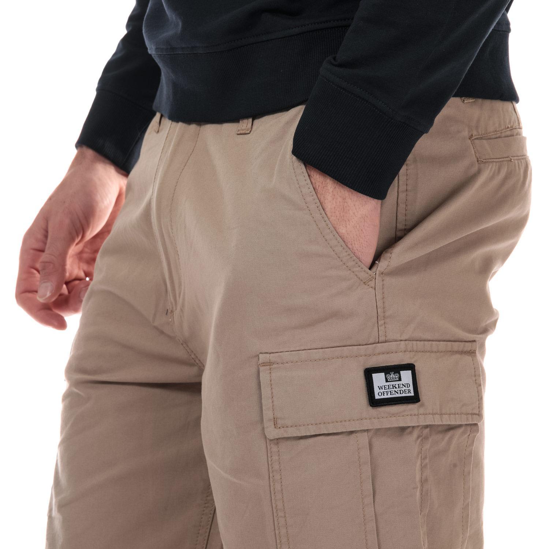 Homme-Weekend-Offender-High-Desert-Coton-Shorts-en-pierre-et-bleu-marine miniature 12