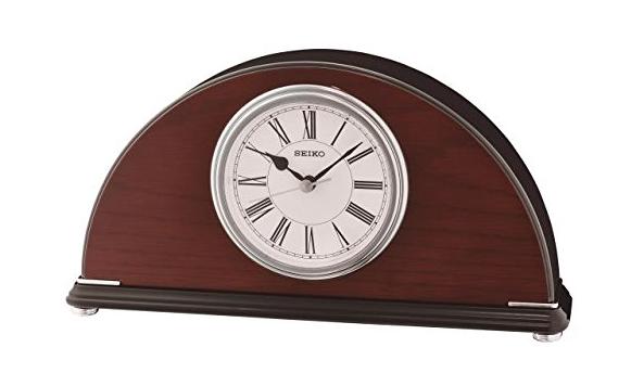 Orologio Da Tavolo Sveglia In Legno Noce Art Nouveau 14x20 ottima qualità nuovo
