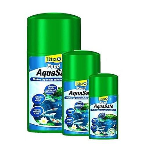 Tetra Aquasafe Pond Tap Water Conditioner Dechlorinator 250ml 500ml