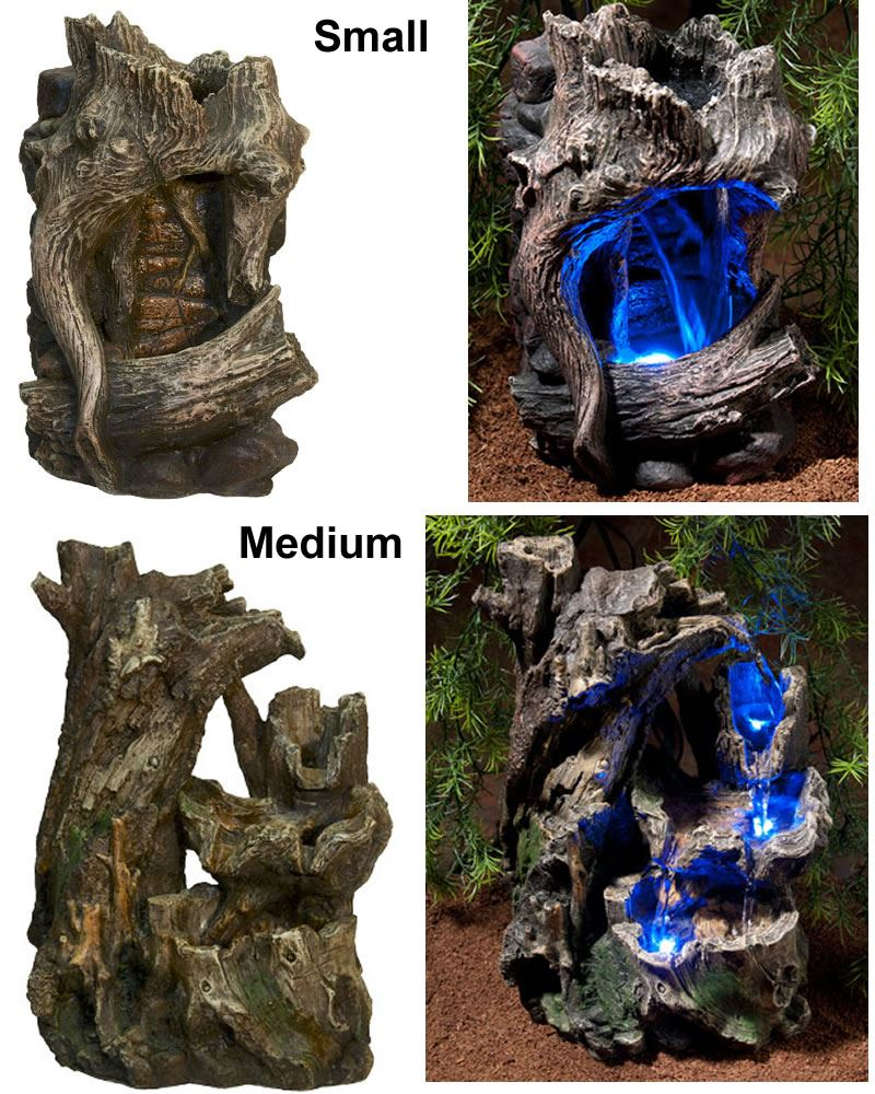 Zoo Med Repti Rapids Waterfall Led Lights Wood Reptile Viv