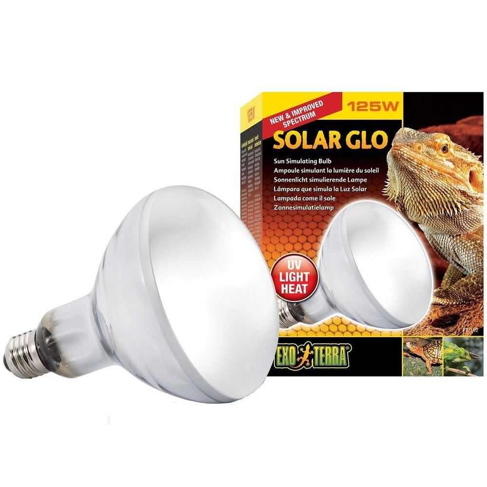 Exo Terra Solar Glo Reptile Heat Lamp UVA UVB Light ALL in 1 Bulb ...