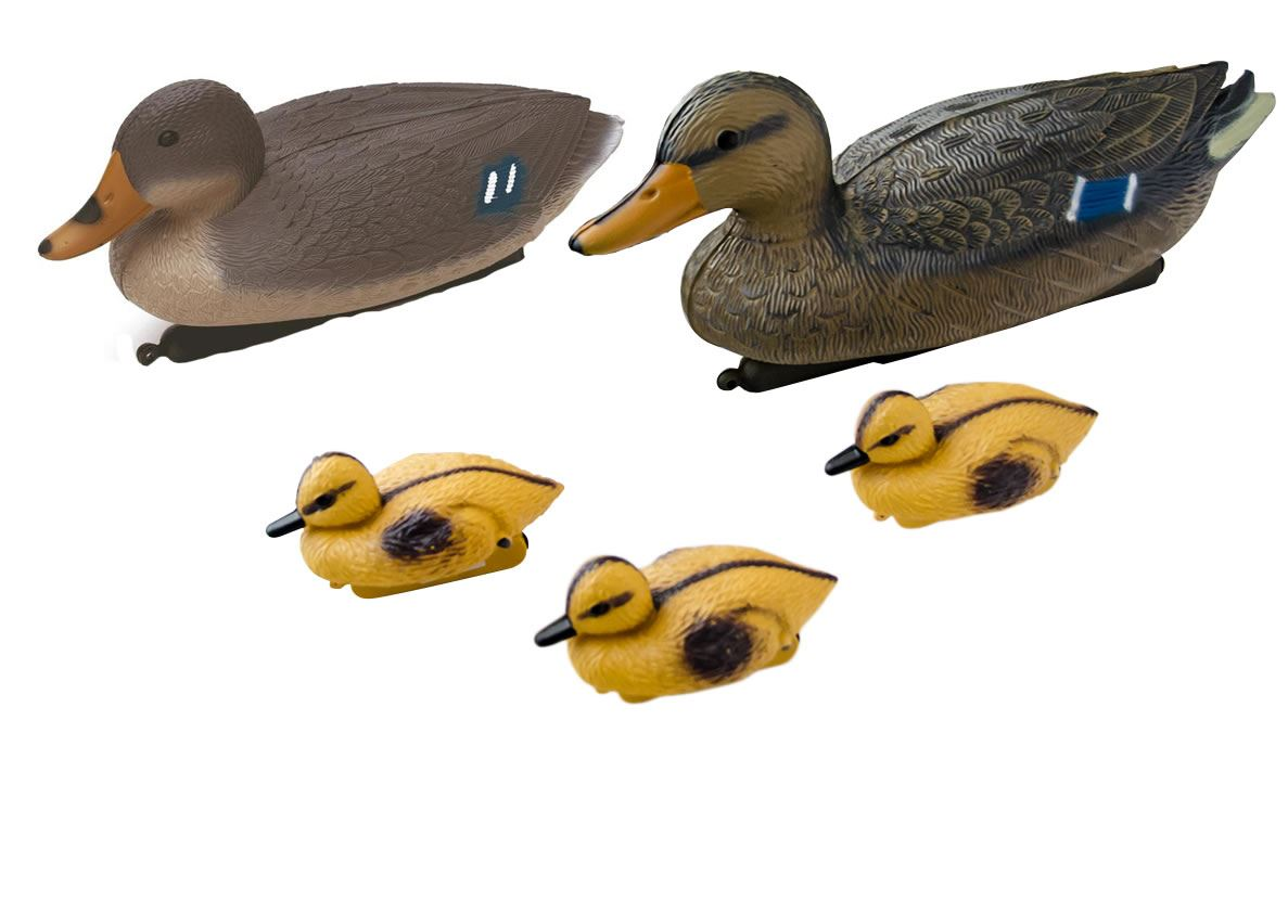 Floating Duck Ducklings Fish Pond Ornament Plastic Decoy Mallard ...