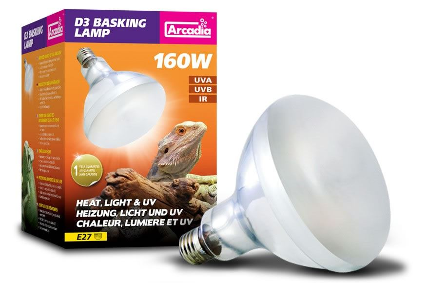 Arcadia Reptile D3 Basking Lamp Mercury Vapour UVA UVB Heat Bulb ...