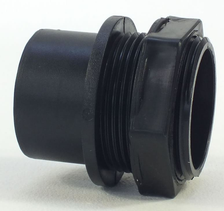 Solvent weld threaded tank connector nut pipe fitting for Connecting fish tanks
