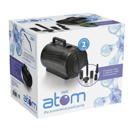 Bermuda atom garden filter fountain waterfall pond pump for Water feature filtration system