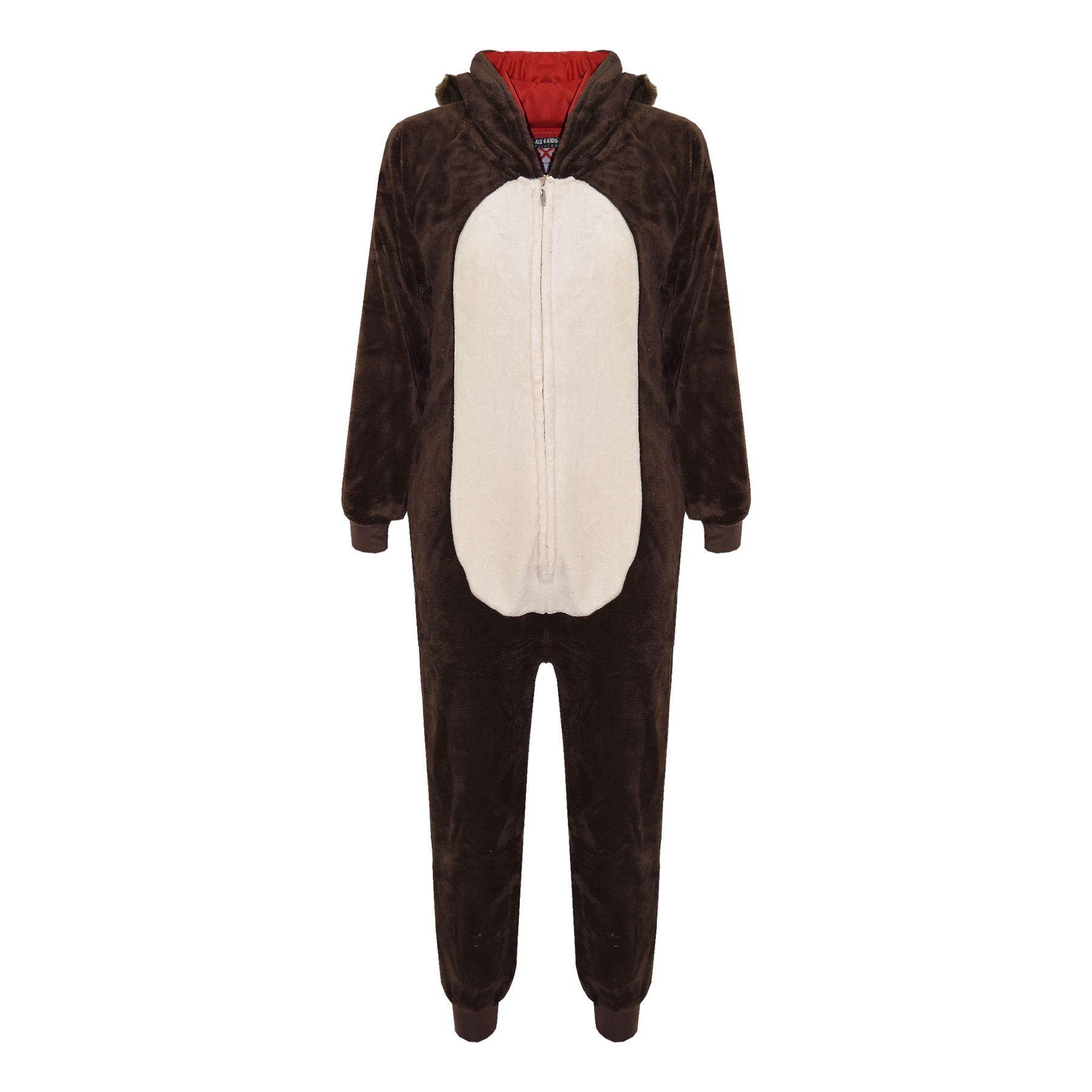 Kids-Girls-Boys-Soft-Fluffy-Animal-Monkey-A2Z-Onesie-One-Piece-Halloween-Costume miniatuur 83