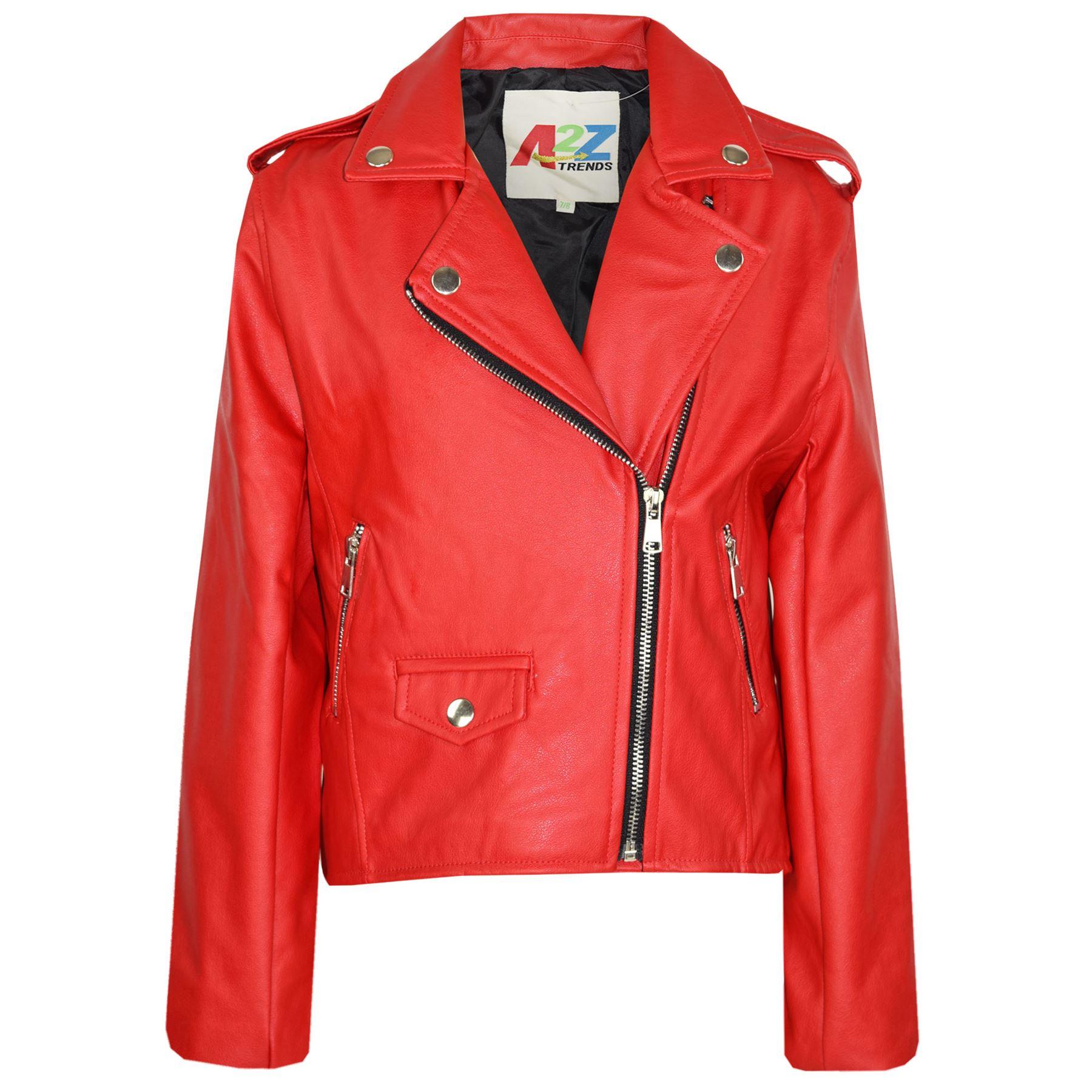 kids jackets girls designers pu leather jacket zip up