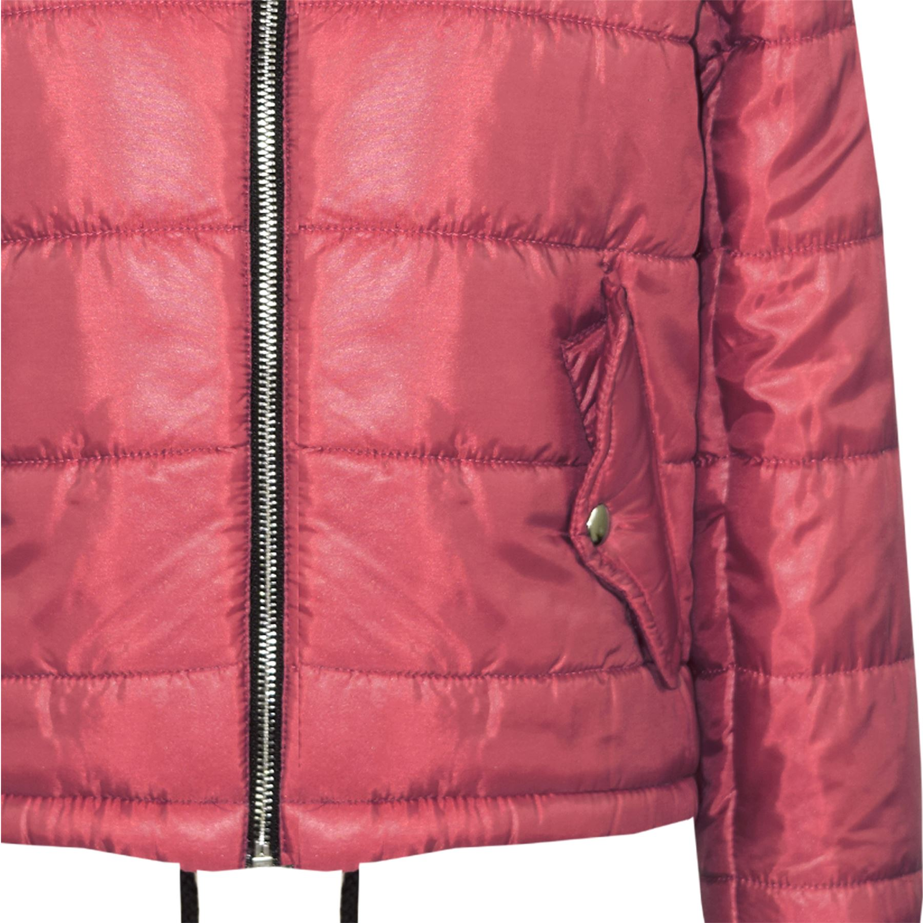 14c4e1e13959 Girls Jacket Kids Bella High Shine Hooded Padded Quilted Puffer ...