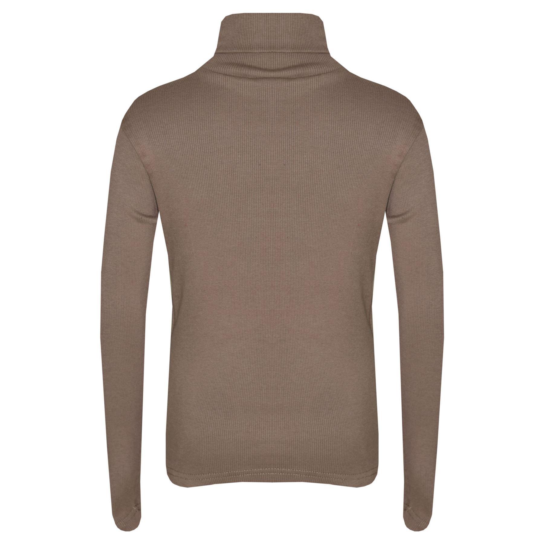 Kids Girls Polo Neck T Shirt Thick Cotton Turtleneck Jumper Long Sleeve Top