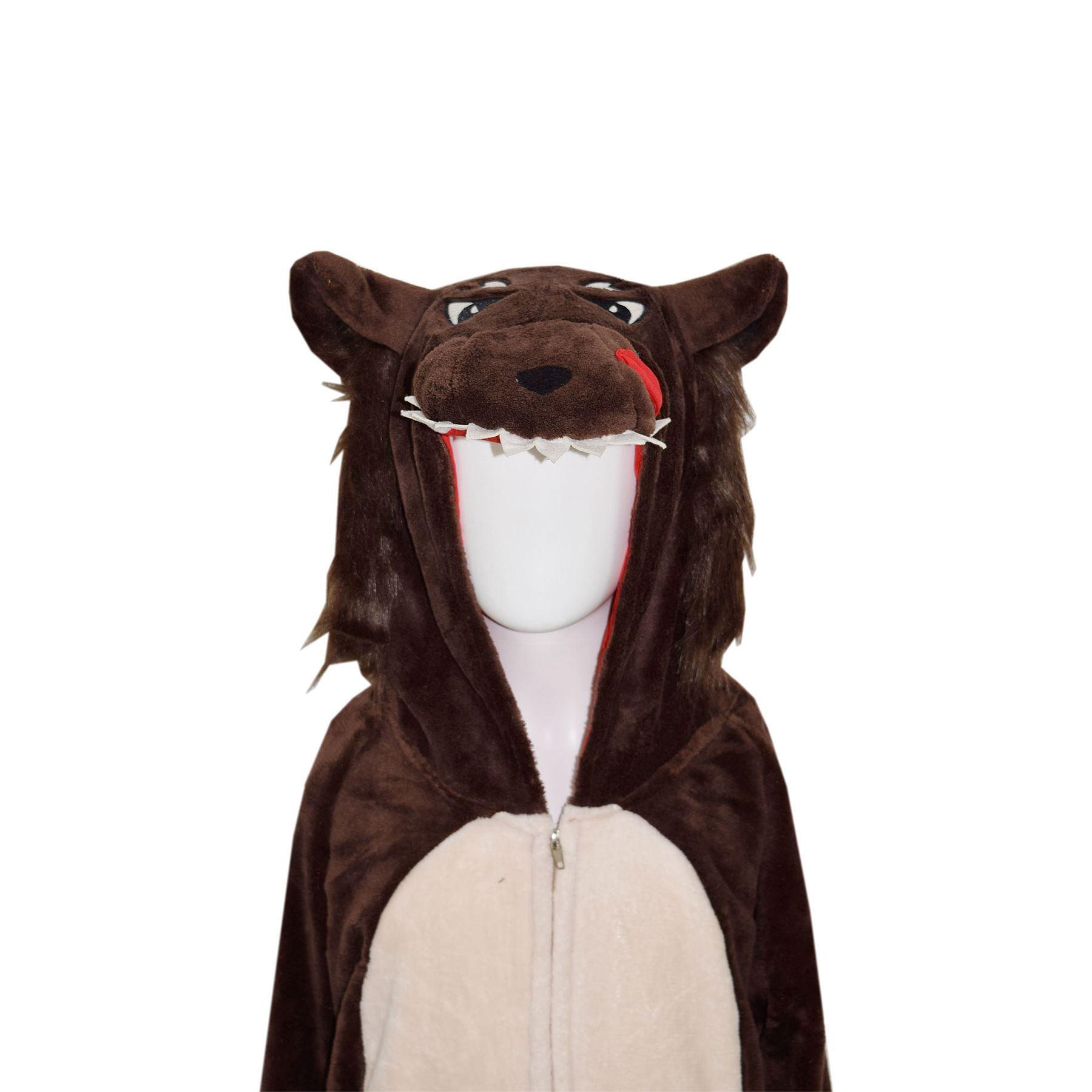 Kids-Girls-Boys-Soft-Fluffy-Animal-Monkey-A2Z-Onesie-One-Piece-Halloween-Costume miniatuur 85