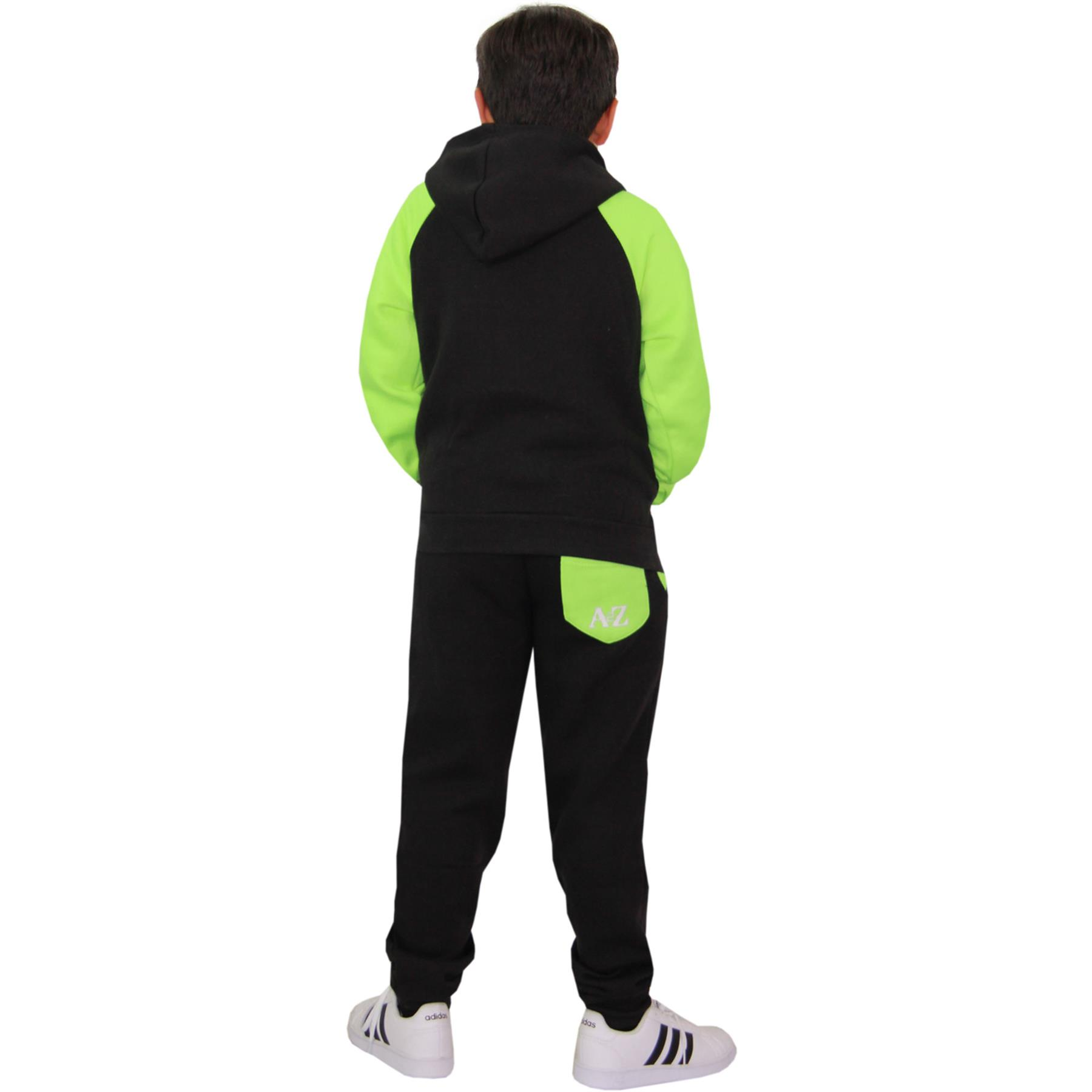 Kids Tracksuit Boys Girls Designer/'s Pedal Power Jogging Suit Top Bottom 7-13 Yr