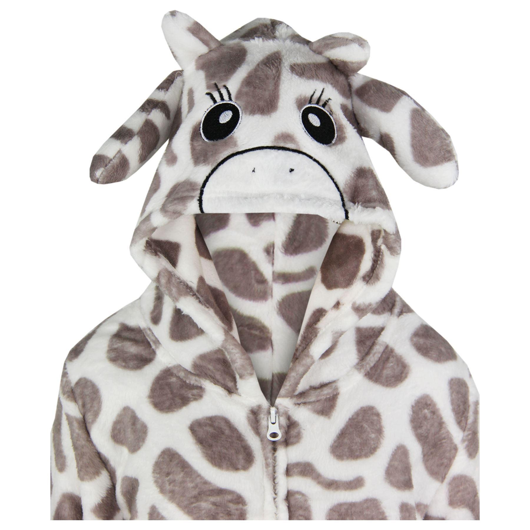 Kids-Girls-Boys-Soft-Fluffy-Animal-Monkey-A2Z-Onesie-One-Piece-Halloween-Costume miniatuur 19