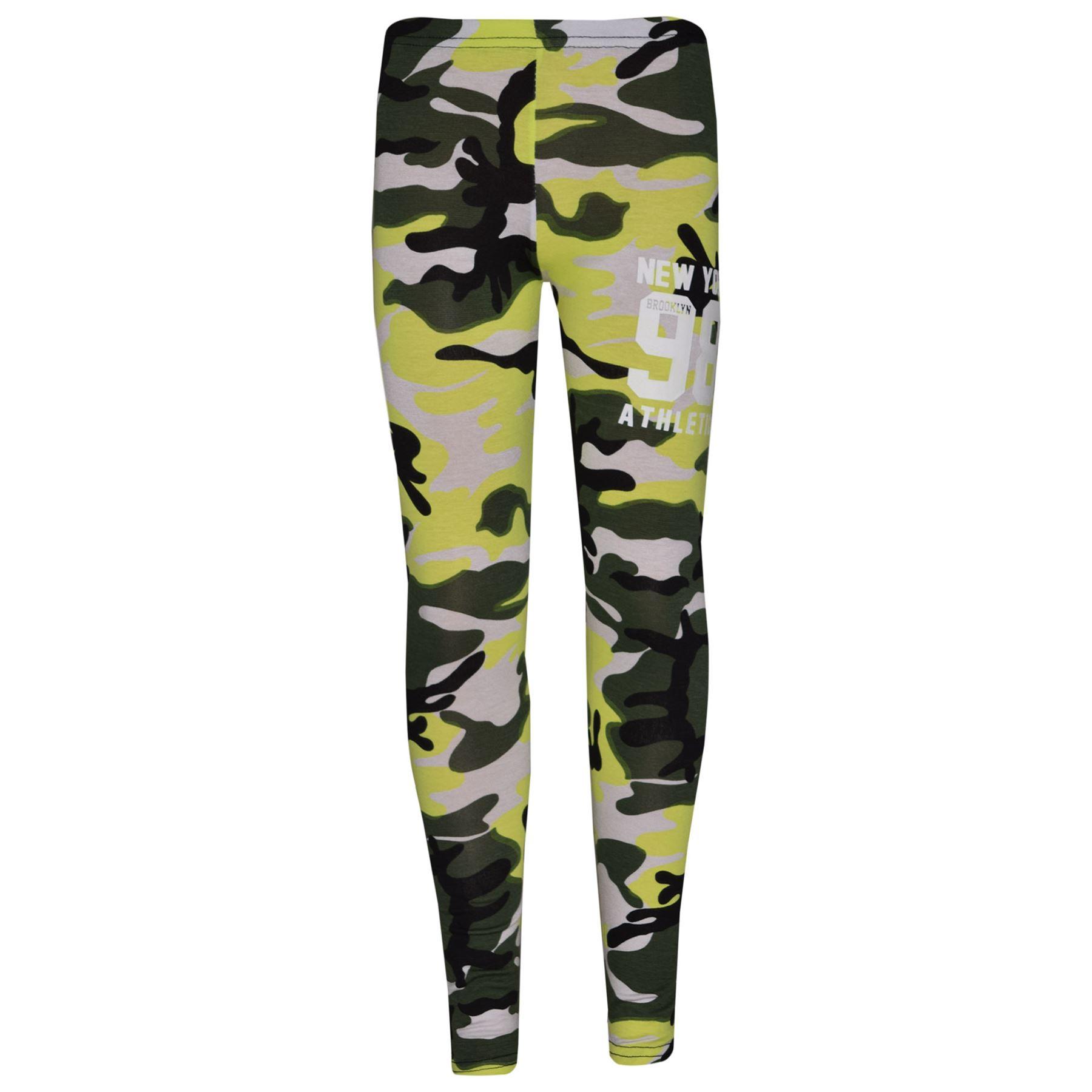 Girls-NEW-YORK-BROOKLYN-98-ATHLECTIC-Camouflage-Print-Top-amp-Legging-Set-7-13-Yr thumbnail 36
