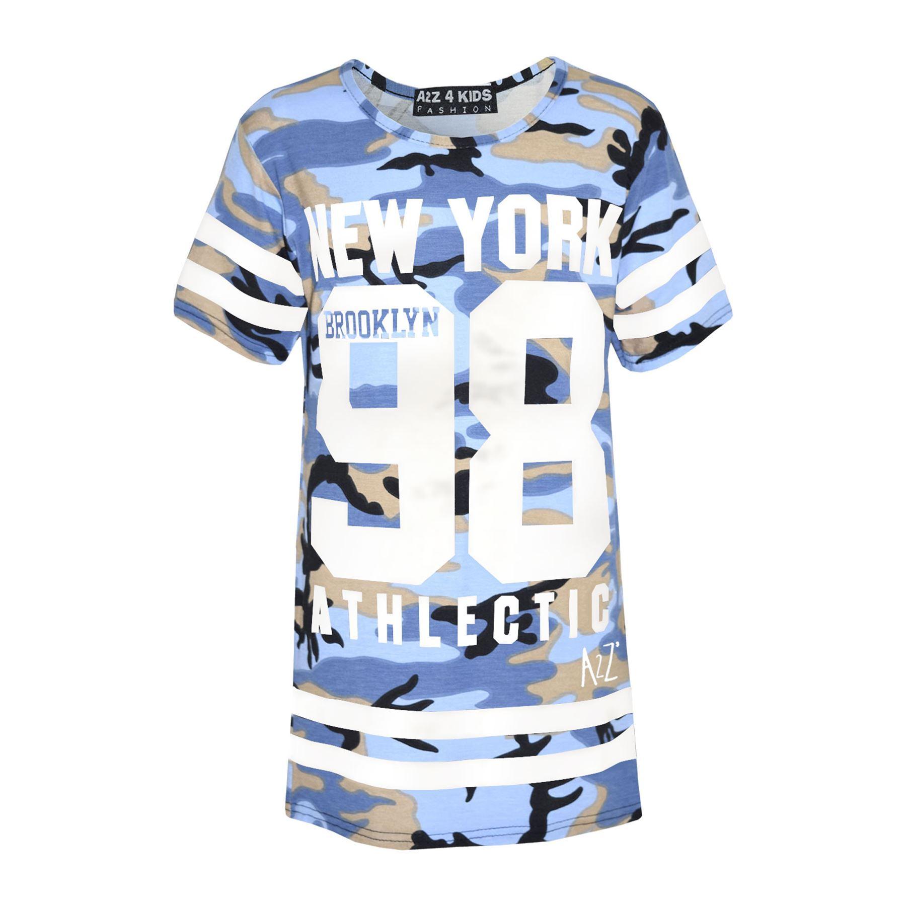 Girls-NEW-YORK-BROOKLYN-98-ATHLECTIC-Camouflage-Print-Top-amp-Legging-Set-7-13-Yr thumbnail 14