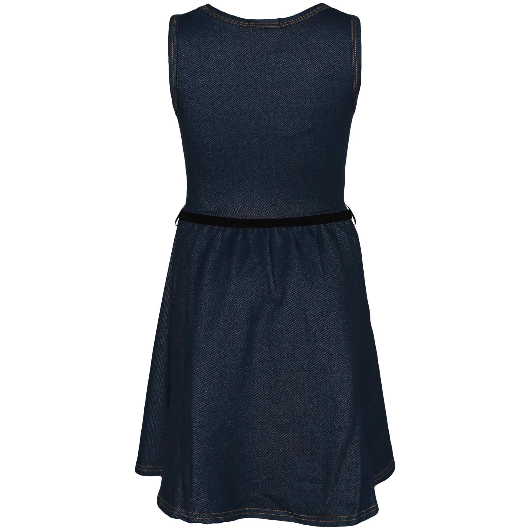 Girls-Skater-Dress-Kids-Party-Dresses-With-Free-Belt-Age-7-8-9-10-11-12-13-Years thumbnail 16