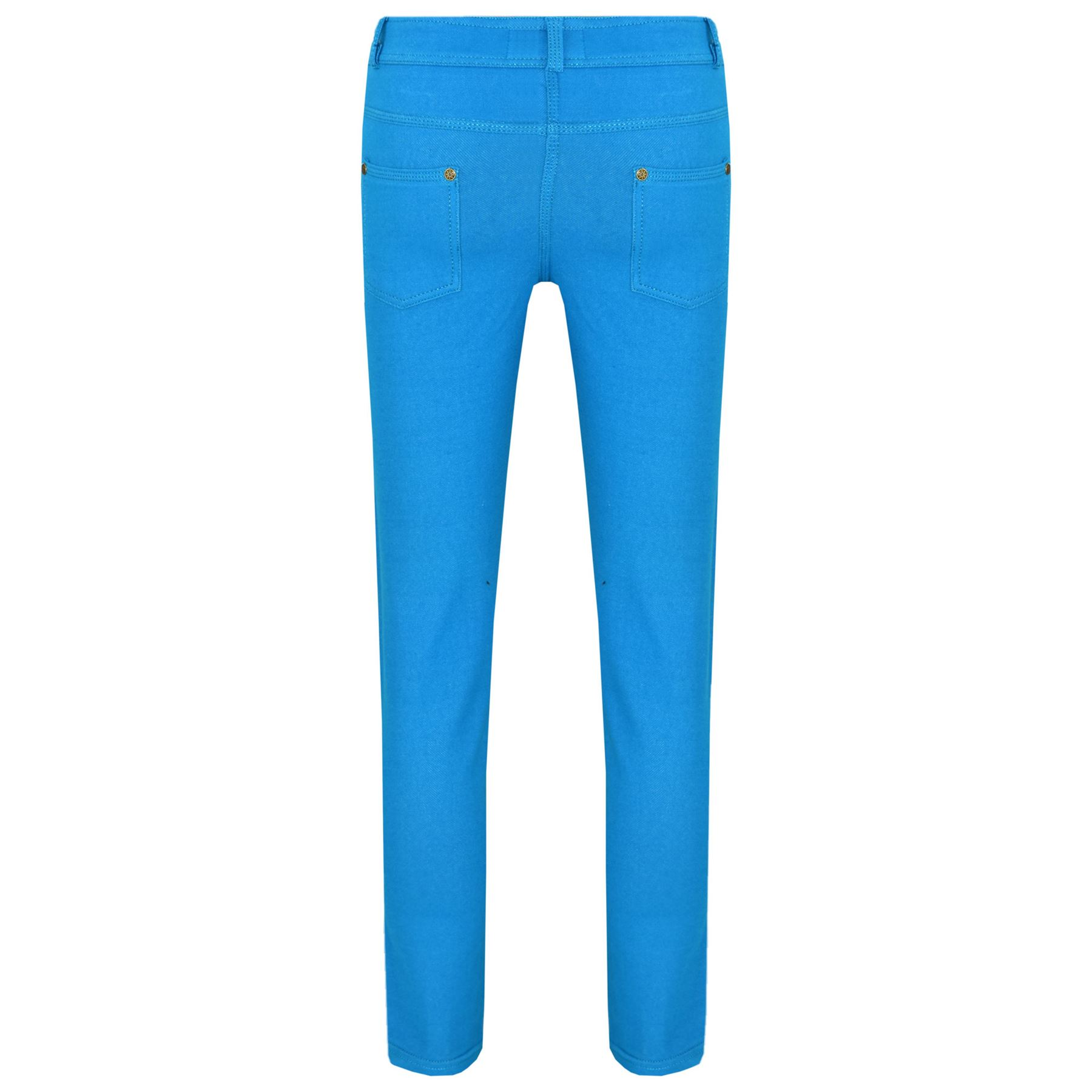 Girls Skinny Jeans Kids Stretchy Jeggings Fit Pants Coloured Trousers 5-13 Years