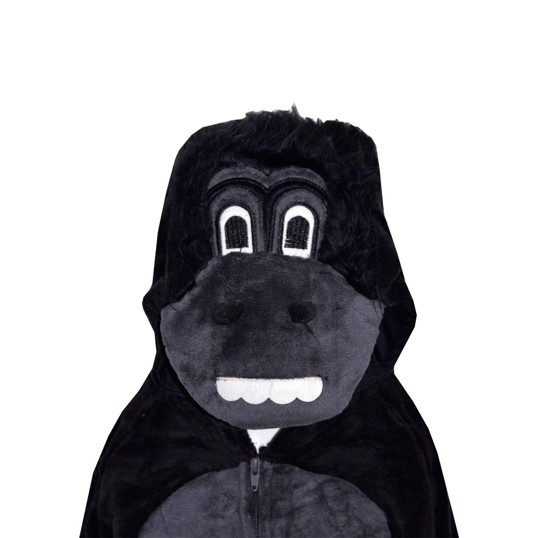 Kids-Girls-Boys-Soft-Fluffy-Animal-Monkey-A2Z-Onesie-One-Piece-Halloween-Costume miniatuur 22