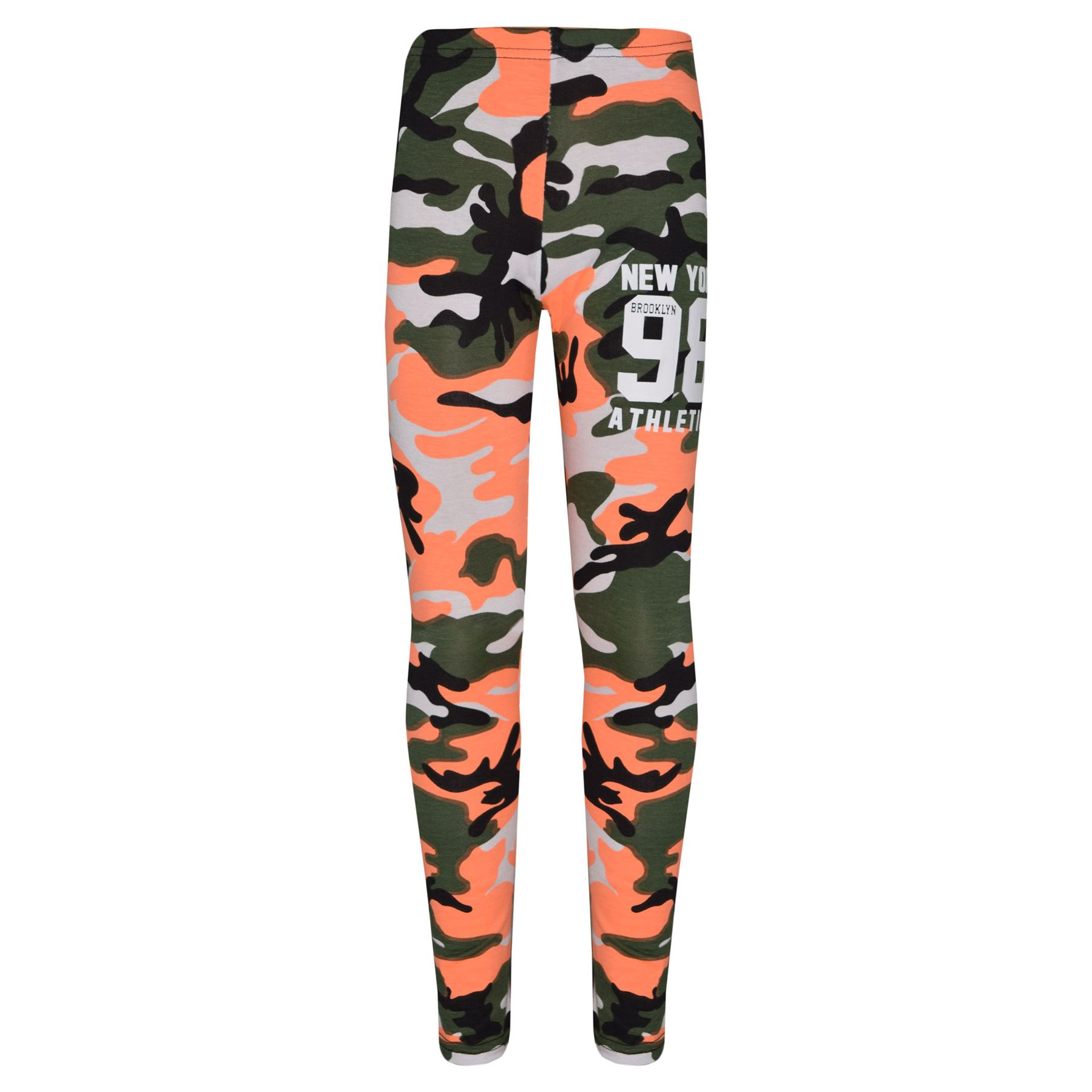 Girls-NEW-YORK-BROOKLYN-98-ATHLECTIC-Camouflage-Print-Top-amp-Legging-Set-7-13-Yr thumbnail 44