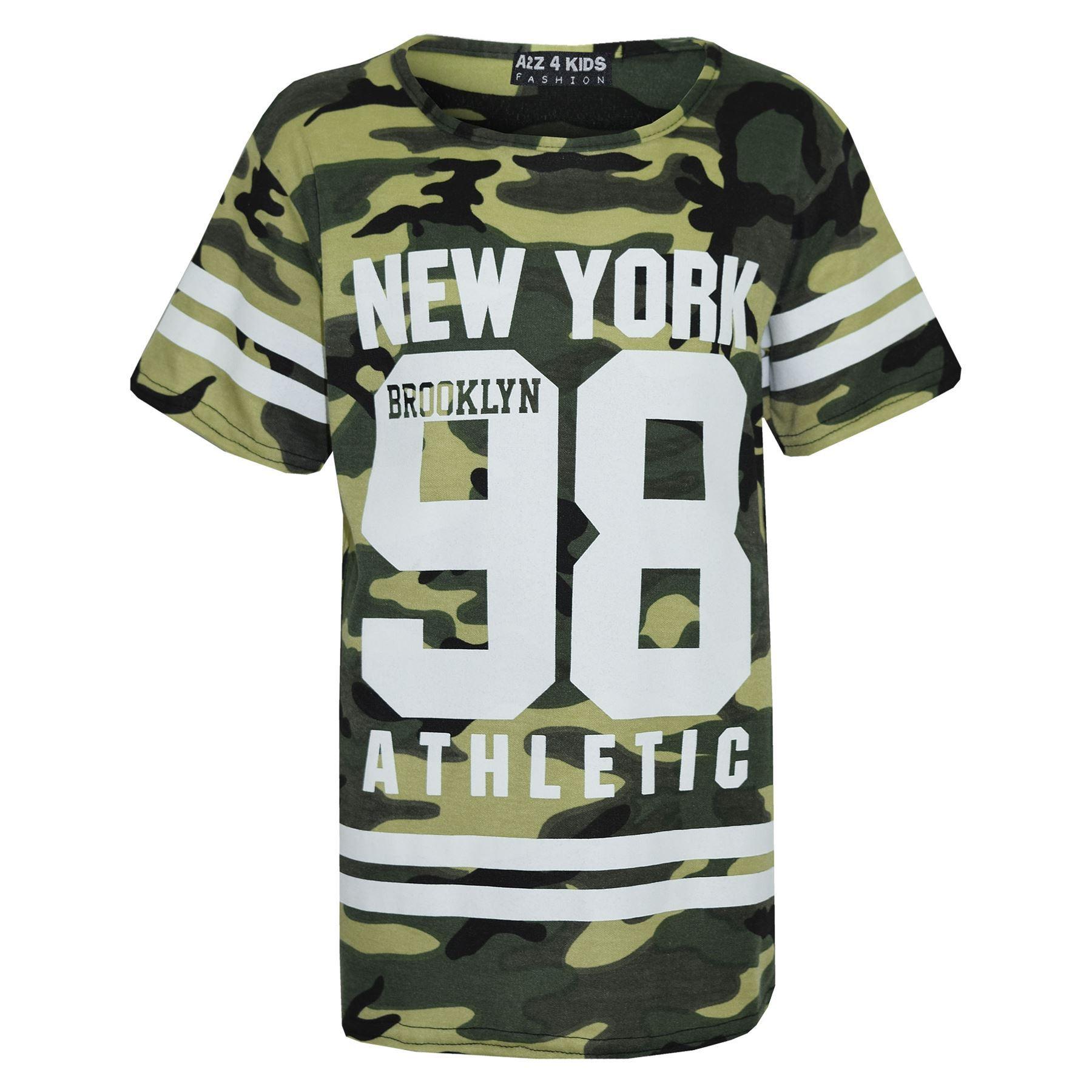 Girls-NEW-YORK-BROOKLYN-98-ATHLECTIC-Camouflage-Print-Top-amp-Legging-Set-7-13-Yr thumbnail 23