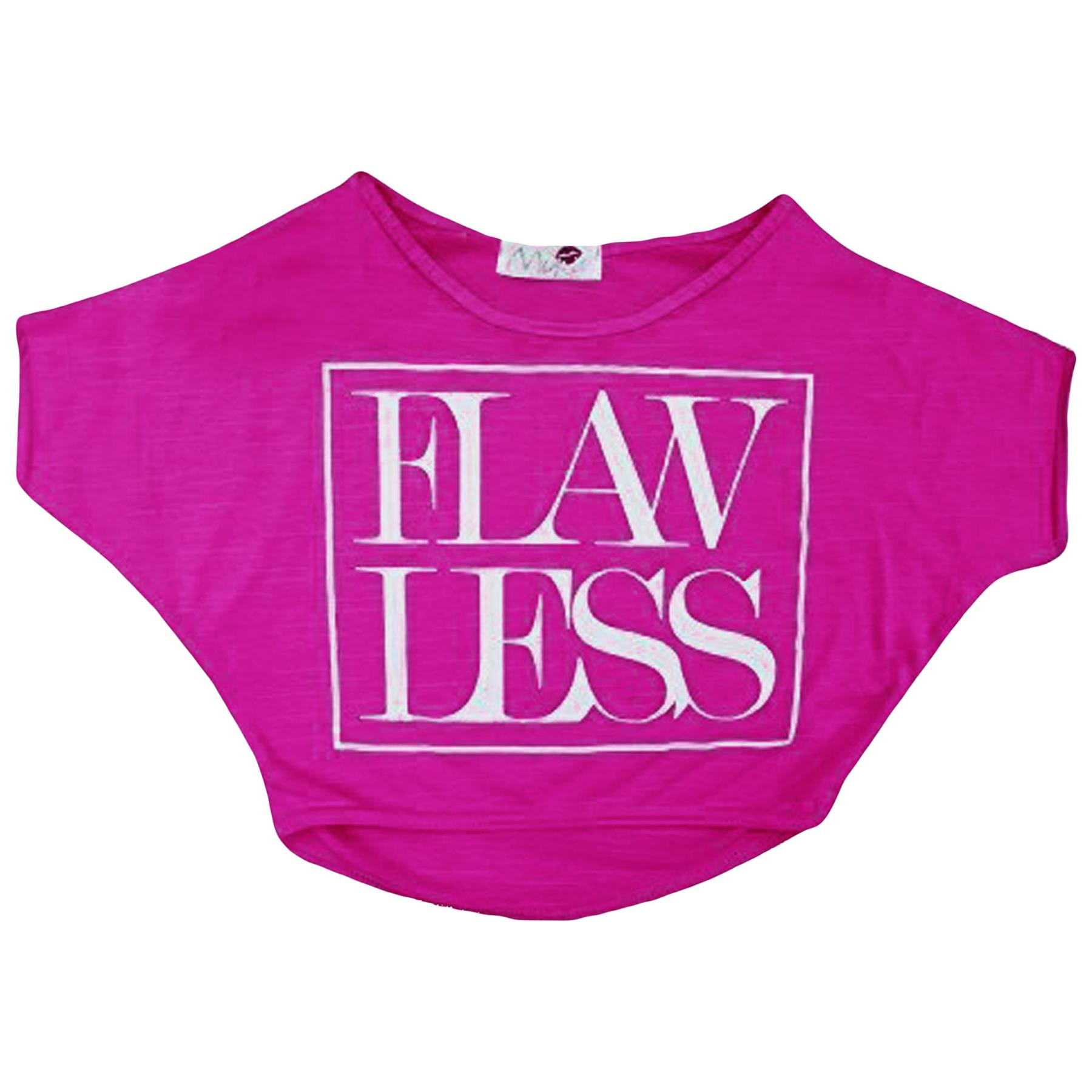 Kids-Girls-New-Season-034-FLAWLESS-034-Print-Crop-Top-Stylish-Fashion-T-Shirt-Age-7-13 miniatuur 15