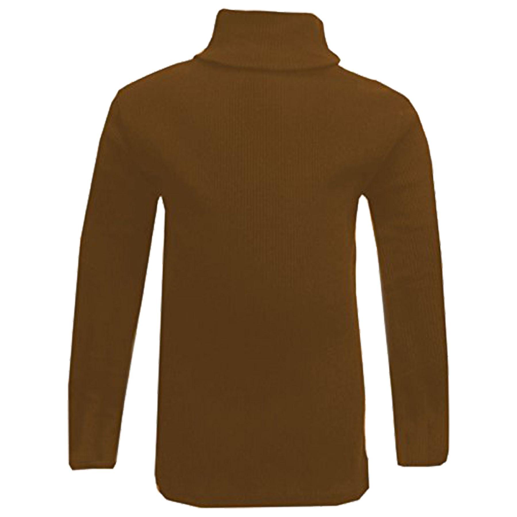 kids girls polo neck t shirt ribbed cotton jumper long