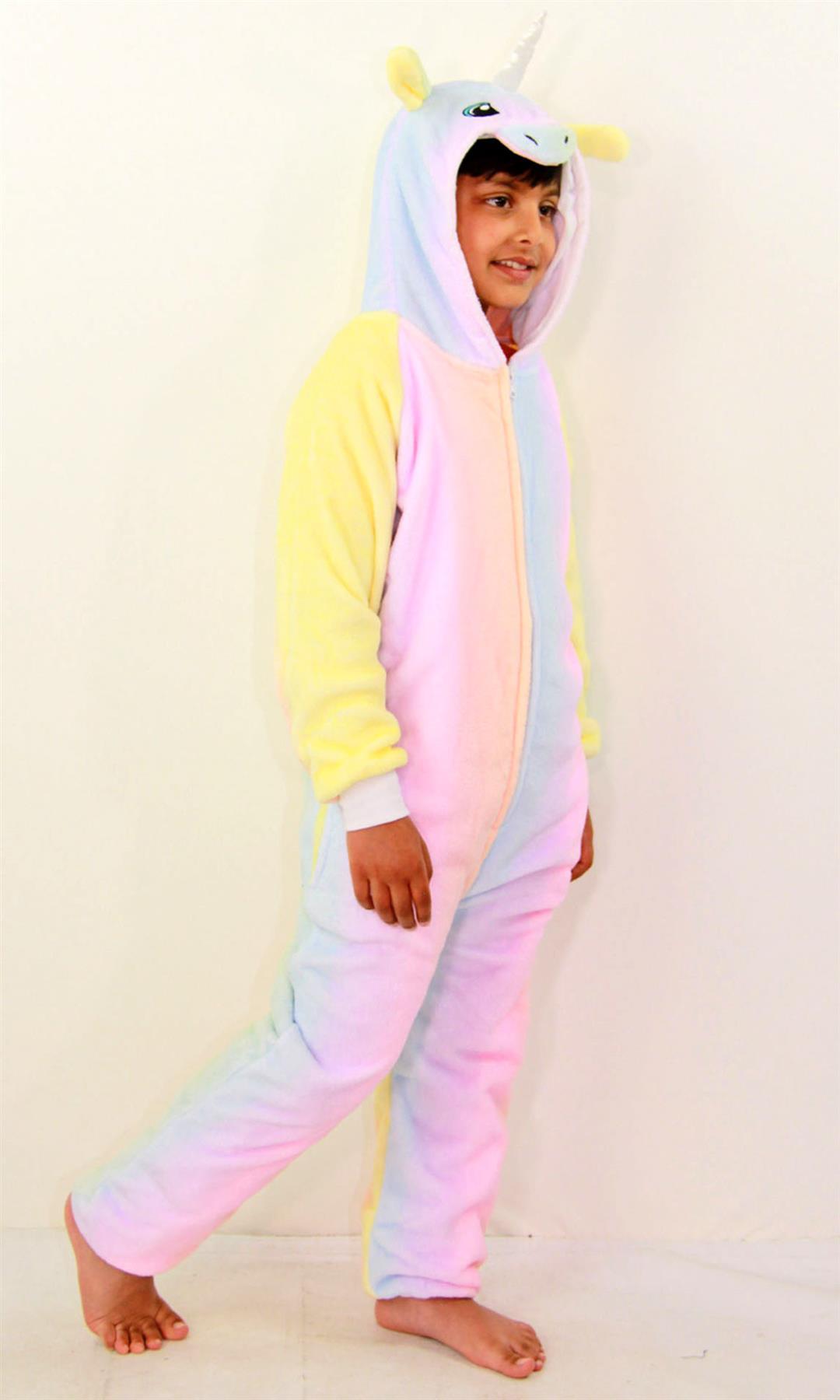 Kids-Girls-Boys-Soft-Fluffy-Animal-Monkey-A2Z-Onesie-One-Piece-Halloween-Costume miniatuur 78